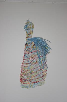 Susan Stockwell cycle map dress study