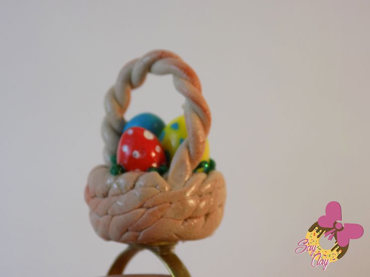 Polymer Clay Easter Basket By Say Clay