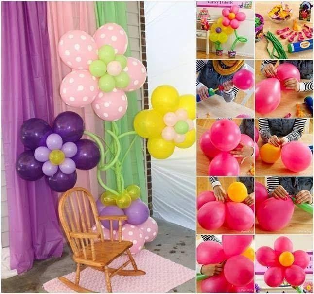 flores com balões. Aprenda mais arte com balões: http://artesanatobrasil.net/curso-decoracao-com-baloes/ ADD:https://plus.google.com/+ArtesanatoBrasilOficial/posts