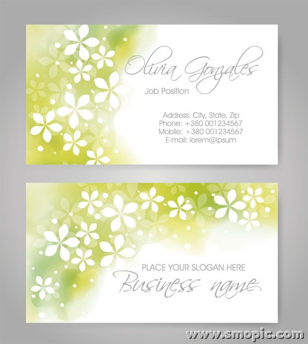 Free light green abstract pattern business card cover ...