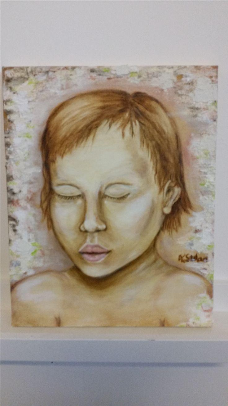 Ine oil on canvas Anne Karin Stølan