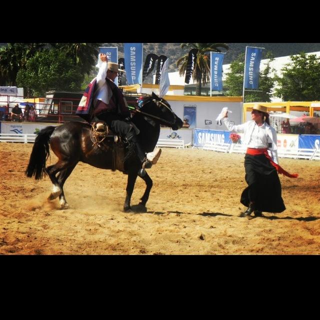 Cueca a pie y a caballo