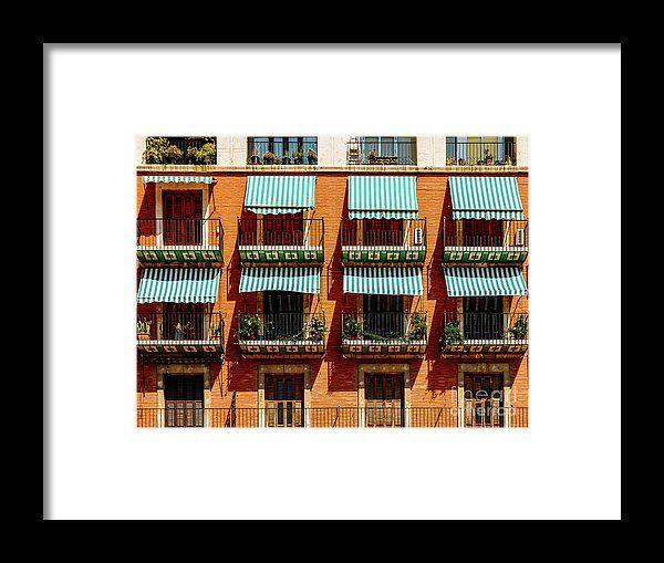 Vintage Apartament Building Block Exterior Facade Framed Print