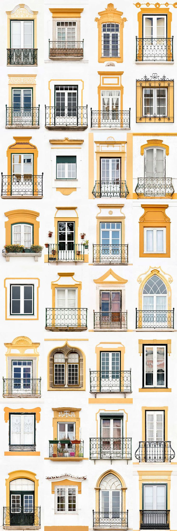 I Traveled All Over #Portugal To Photograph Windows, And Captured More Than 3200 Of Them - via BoredPanda 23-10-2017 | If you are planning a trip to Portugal, you can see which are the most beautiful cities to visit or what kind of architecture you like the most. Photo: Evora