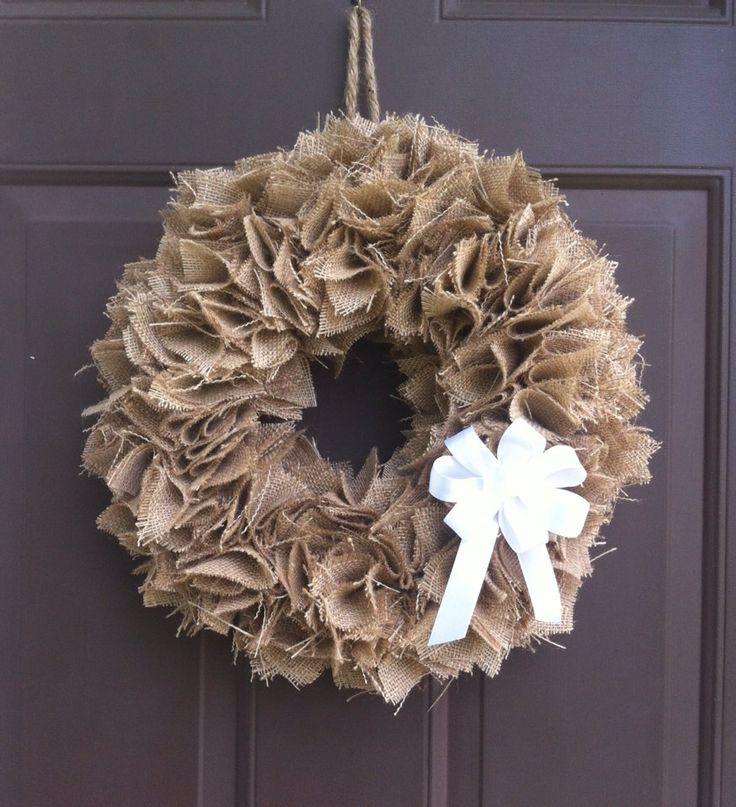 Fall Burlap Wreath for Front Door Hanger Autumn by WeHaveWreaths, $50.00