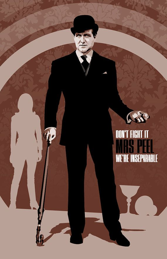 MY FAVORITE ARTIST FOR DOCTOR WHO AND OTHER BRITISH ICONS!!  John Steed  The Avengers  17 x 11 Digital Print by DadManCult, $12.99