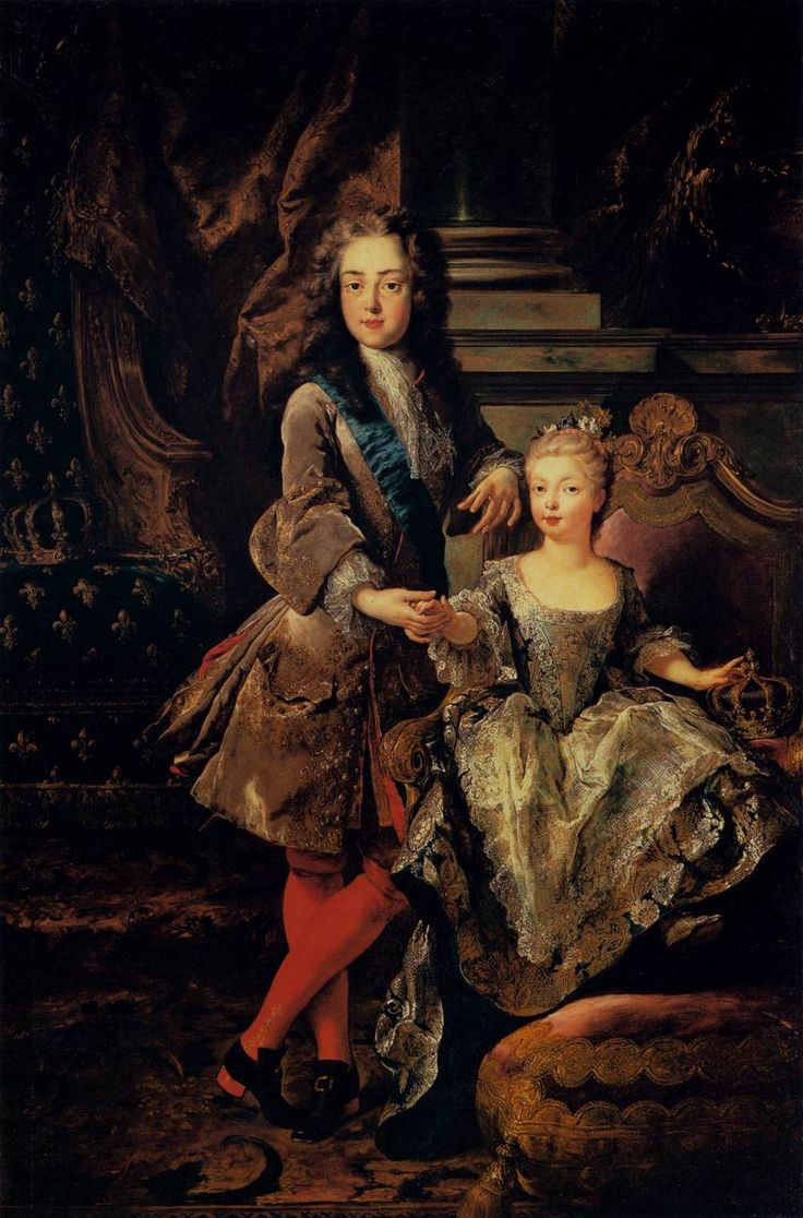 """""""Portrait of Louis XV of France and Maria Anna Victoria of Spain"""" 1723 by Jean-François de Troy"""