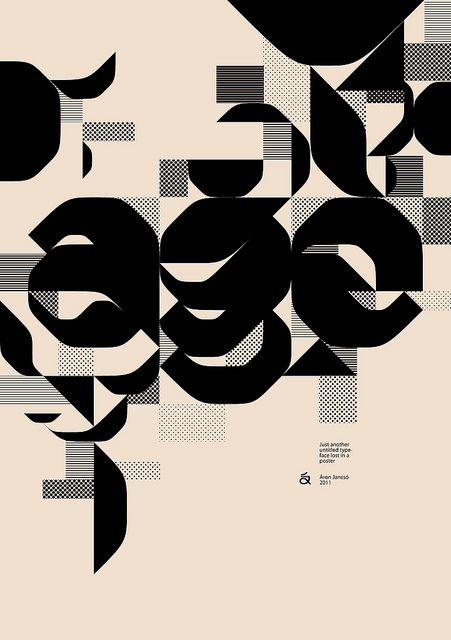 age - untitled typeface lost in a poster, Aron Jancso