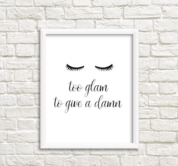 Printable women gift Printable teen gift Teen room decor Eyelashes Print Printable Eyelashes Lashes Poster Lashes art False eyelashes Beauty