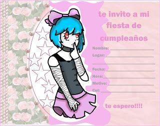 """Ideas, decoración y manualidades para fiestas: Zombirella adolescente invitación """"Virtual Hero El..."""