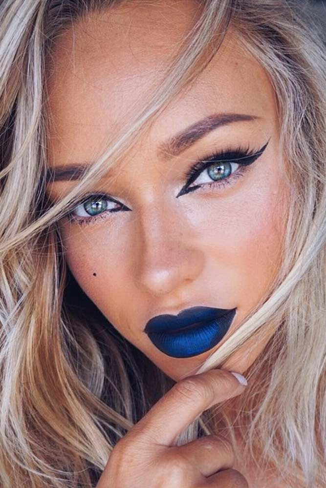 Blue Lipstick Shades Were Falling for This Season ★ See more: http://glaminati.com/blue-lipstick-shades/