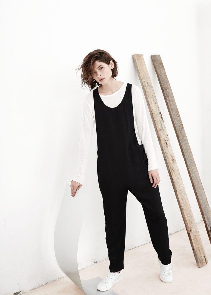 PREMIUM - Flowy jumpsuit with stripes, floral