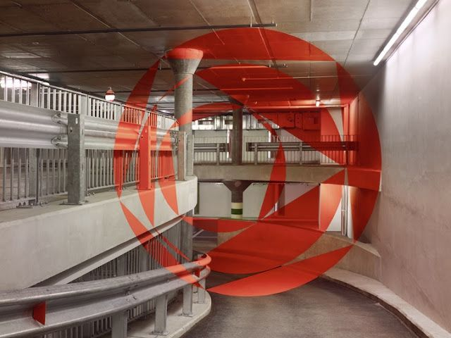 Non-Photoshopped Anamorphic Illusions by Felice Varini