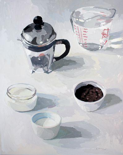 coffee  - gouache on paper, by elizabeth mayville