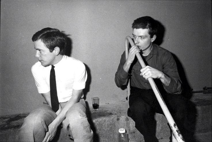 Bernard Sumner and Ian Curtis. Joy Division in Paris, France, 18 Dec 1979