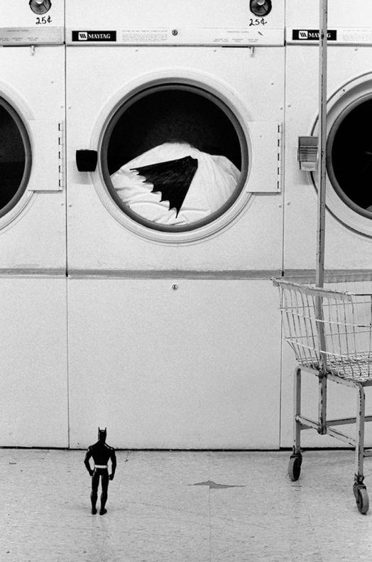 Curious Wanderings of Batman in the American Southwest by French artist Rémi Noël