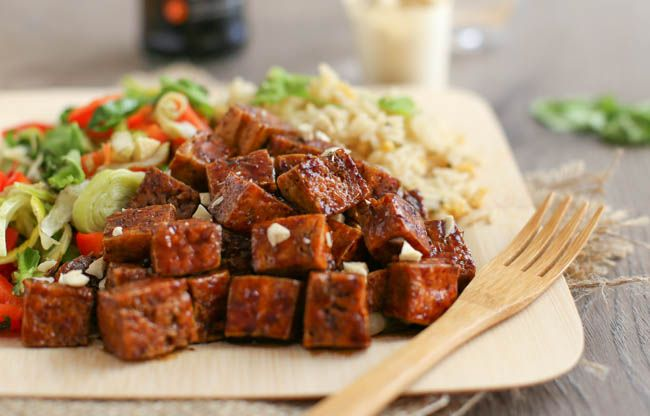 This honey soy tofu is the best tofu recipe I have EVER had! It's so quick and easy to make, and it's completely delicious. It's sticky, chewy AND crispy!