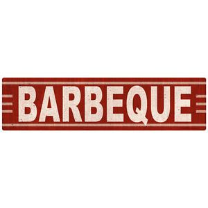 Barbecue Vintage-Style Wall Decal Reproduction Restaurant Wall Decor