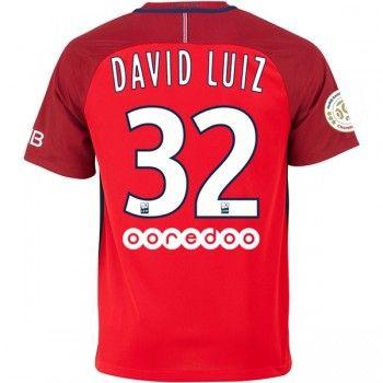 Paris Saint Germain PSG 16-17 David Luiz 32 Bortatröja Kortärmad   #Billiga  #fotbollströjor