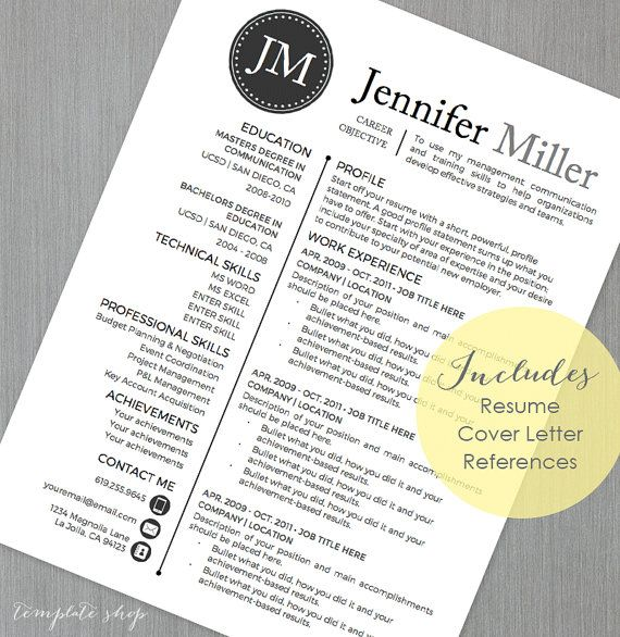 18 Best Images About Resume Templates On Pinterest | Mint Green