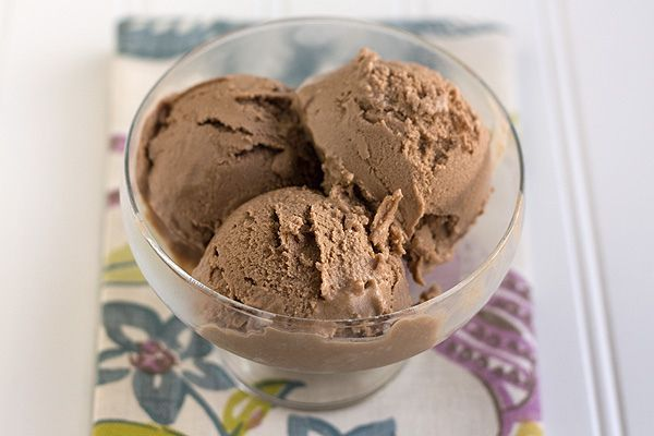 Chocolate Frozen Yogurt  YIELD: about 5 cups  ingredients:  4 cups whole milk plain yogurt, strained through a cheesecloth or paper towels for 2 to 4 hours, or whole milk plain Greek yogurt  3/4 cup granulated sugar  1/3 cup cocoa powder, sifted  Pinch salt  1 cup lowfat milk  1/2 teaspoon pure vanilla extract