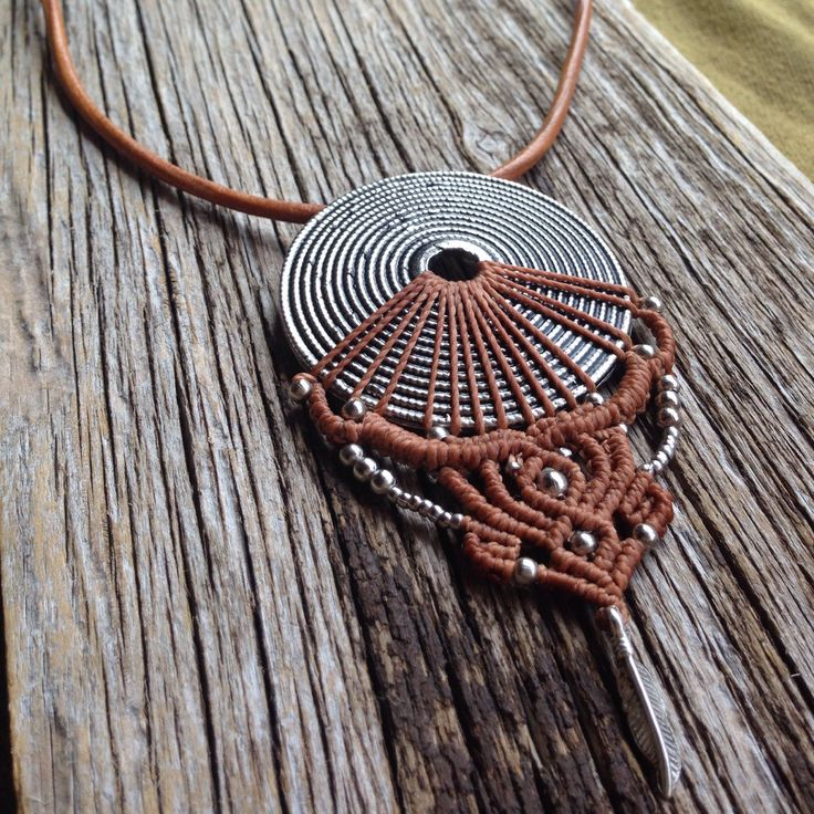 New macrame necklace in the Shop come in and find out!