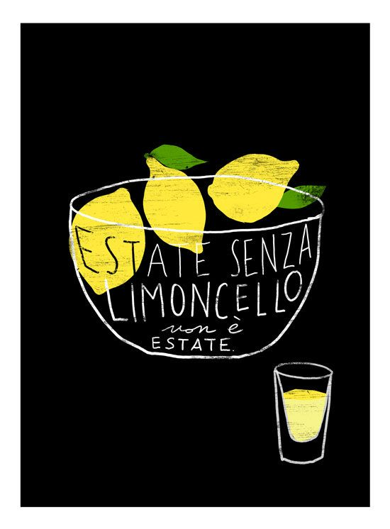Estate senza limoncello non è estate. Summer without limoncello is not summer. I love it because of it's gorgeous not sour/not bitter lemony taste and that gorgeous yellow color. Chilled, homemade limoncello after delicious summer lunch will make you feel like lying on beautiful beach somewhere in Capri.
