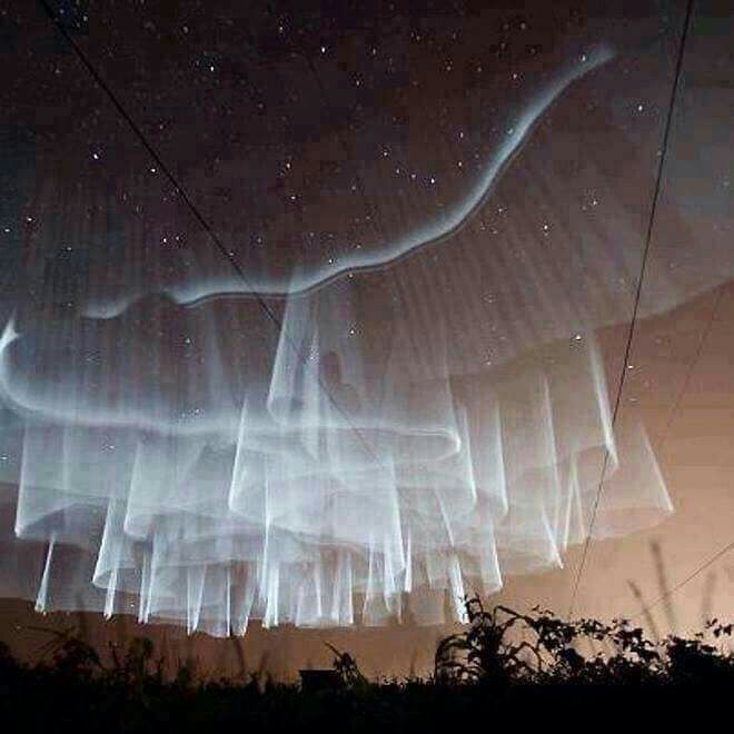 "This type of Aurora Borealis in Finland is called: ""The Hem of His Garment""…I am speechless but my spirit is shouting. Would love to see it. <<Yes. :)"