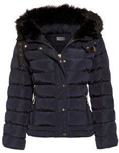 SS7 – Manteau matelassé doudoune pour femmes – Taille 36 à 44 – Bleu marine, Femme, EU 38