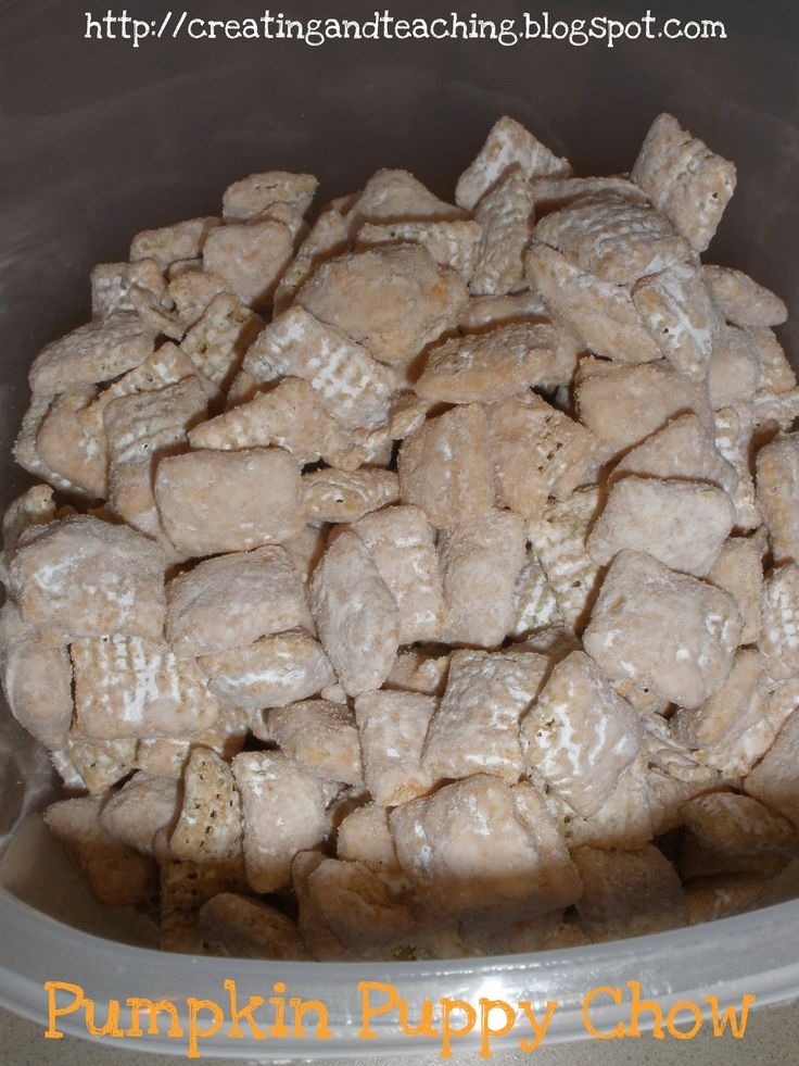 Pumpkin Puppy Chow: Muddy Buddies, Puppy Chow, Pumpkin Puppies, Puppychow, Hershey Kisses, Pumpkin Hershey, Peanut Butter, Muddy Buddy, Puppies Chow