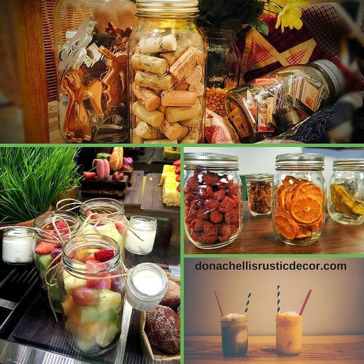 How are you using your Mason jars? Every food or drink looks more scrumptious in a Mason jar. And Mason jars are great for displays. Fill 'em up with wine corks cookie cutters or concert tickets. Fill 'em up with dried fruit and you have a beautiful display as well as a storage container.  #vintage #farmhouse #farmhousestyle #countrydecor #decor  #vintagestyle #vintagedecor #shabbychic #rusticdecor #interiordesign #Americana #farmhousechic #farmhousedecor #countrylife #farmhousefresh…