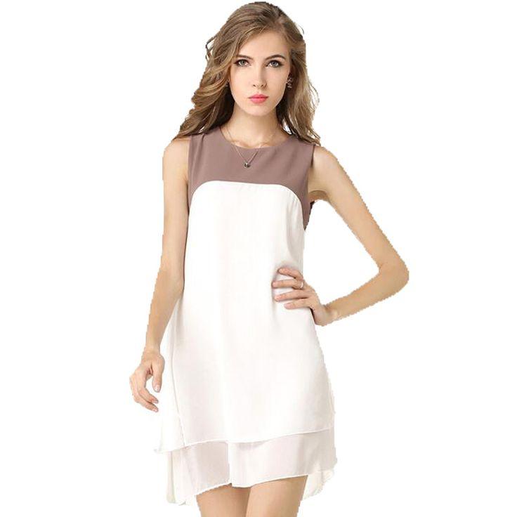 Cheap Donne calde bella a buon mercato colore del vestito chiffon abiti donna abiti estivi 2016 nuovo stile di estate vestito casuale delle donne 9011, Compro Qualità Abiti direttamente da fornitori della Cina:  \