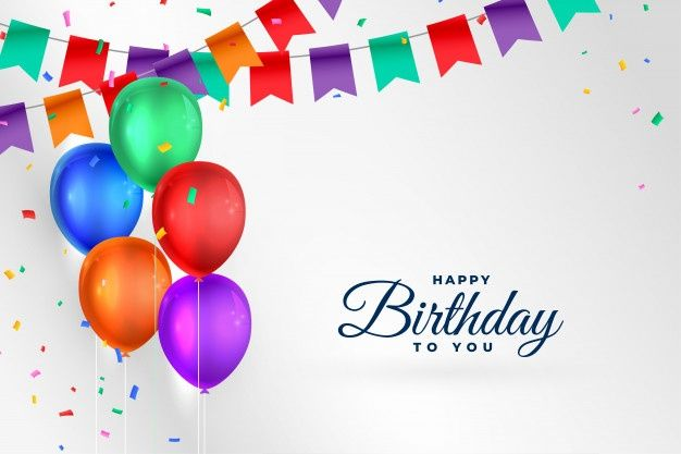 Download Happy Birthday Celebration Background With Realistic Balloons For Free In 2020 Happy Birthday Celebration Happy Birthday Wallpaper Happy Birthday Pictures