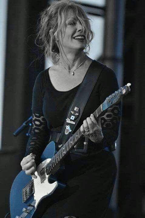 Nancy Wilson and her blue guitar