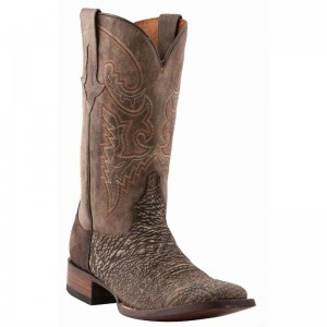 Lucchese Boots Mens Chocolate Sanded Shark Boots - WESTERN BOOTS - BOOTS #lucchese #boots @Denise Baskins Western