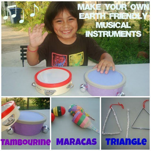 Make your own Maracas, tambourine and triangle! Making ...