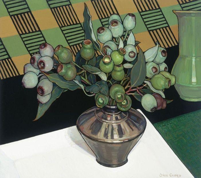 Gumnuts Criss Canning, art, still life, painting