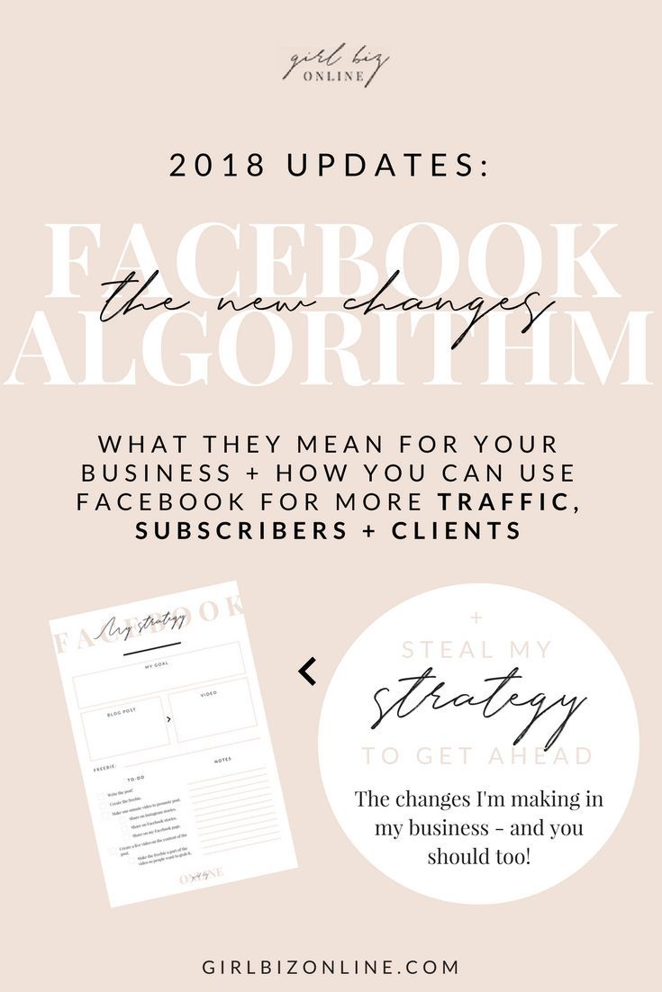 FACEBOOK ALGORITHM UPDATE 2018: MY STRATEGY CHANGES (THAT YOU SHOULD