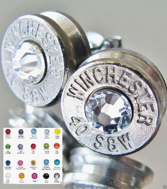 FREE SHIPPING 40 S&W Winchester Bullet Earrings by BulletVarieties