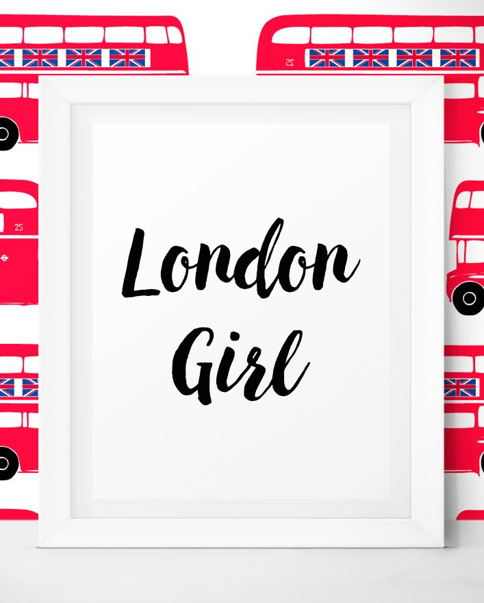 London Kitchen Decor - London Travel Quotes - I Love London - London Print - London Girl Printable Art by LittleWants.