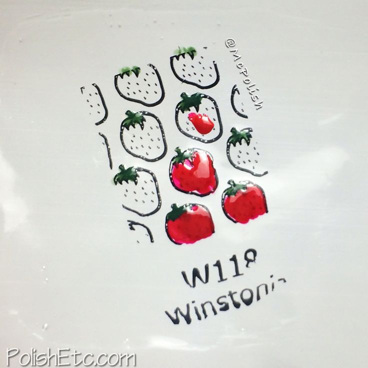 Create a polish decal by painting a square of clear polish onto a sandwich bag. Once it is dry, stamp your image onto the clear polish and color it in.  Once that is dry, you can gently peel the decal off of the plastic.