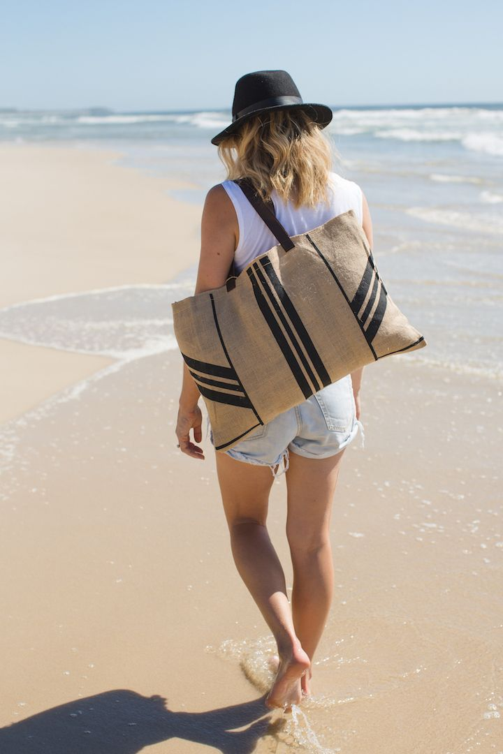 our new striped essential jute bag www.thebeachpeople.com.au
