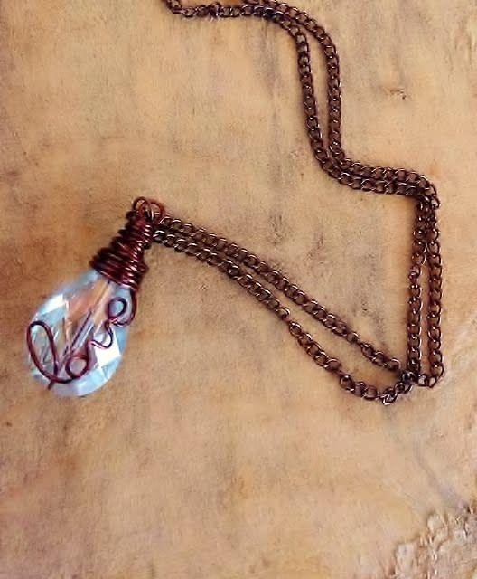 Love Pendant on Teardrop Prism Crystal by It's A Wrap - Bracelets & More