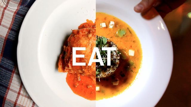 EAT by Rick Mereki. 3 guys, 44 days, 11 countries, 18 flights, 38 thousand miles, an exploding volcano, 2 cameras and almost a terabyte of footage... all to turn 3 ambitious linear concepts based on movement, learning and food ....into 3 beautiful and hopefully compelling short films.....