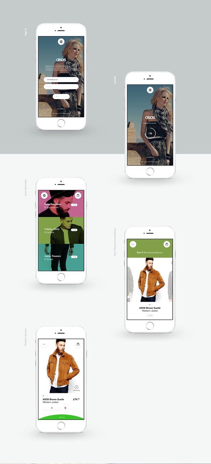 ASOS Top 5 on Behance