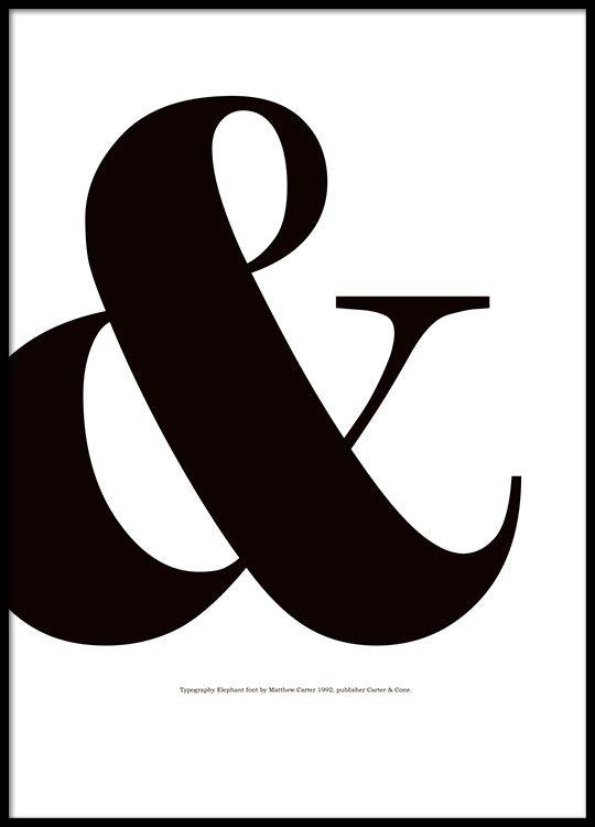 Poster mit Buchstaben. &-Poster.
