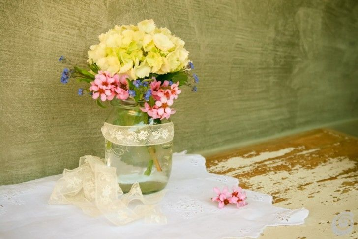 lace & spring flowers