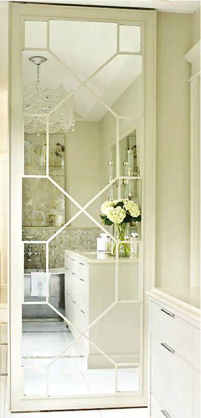 Sliding Mirrored Bathroom Door Classy And Practical