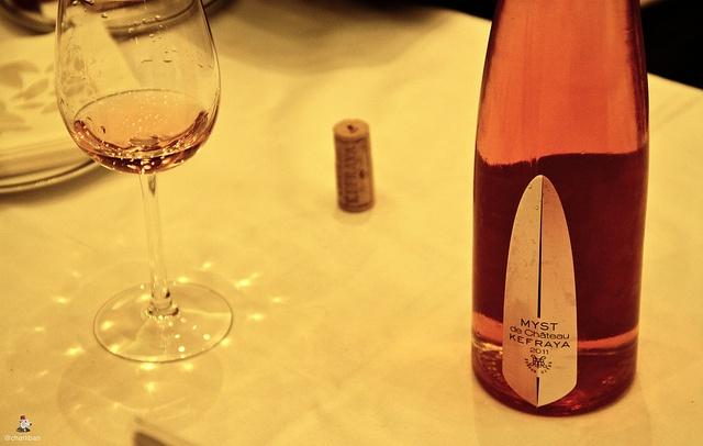 En attendant le millésime 2012, le #rosé #Kefraya #Myst 2011 conserve une très belle #fraicheur :)