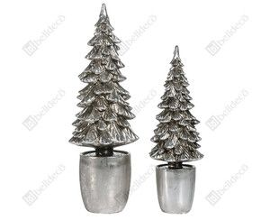 Little silver Christmas trees